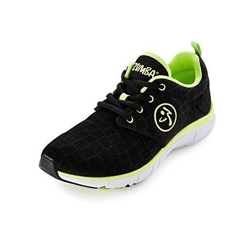 Zumba Footwear Zumba Fly Print, Chaussures de fitness femme Vert - Grün (Black Snake/Yellow)