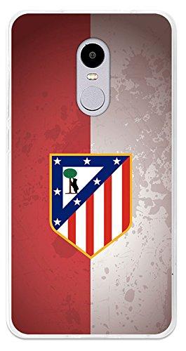 Becool TPU-XI032-ATM13 - Funda Gel Flexible Atlético de Madrid para Xiaomi Redmi Note 4X diseño escudo 4, Multicolor
