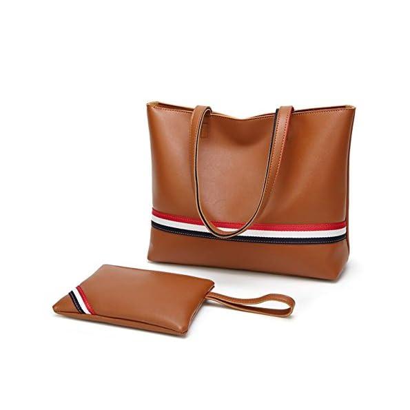 YAN Neue Damentaschen PU-Beutel Set 2 Stück Geldbörse Set für Arbeit, Reisen, Urlaub, Wandern, Walking All Seasons