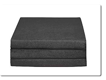 Matelas d'appoint pliant lit d'appoint lit d'invité futon pouf 195x80x9 cm couleur gris