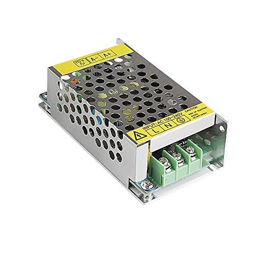 TrAdE Shop Traesio - Alimentatore TRASFORMATORE STABILIZZATO Switch Trimmer 220V-12V 2 A Ampere