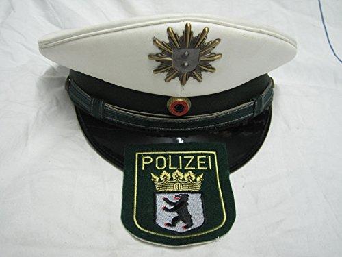 LAGERMAULWURF.de Schirmmütze Polizei Berlin Grösse 53-63 gehobener Dienst Landespolizei +Aufnäher Uniform Dienstmütze -