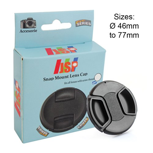 JSP Snap Lens Cap Cover 58mm For Sony, Nikon, Canon, Panasonic, Fuji, Tamron, Sigma, Pentax lens Front Lens Cap Cover
