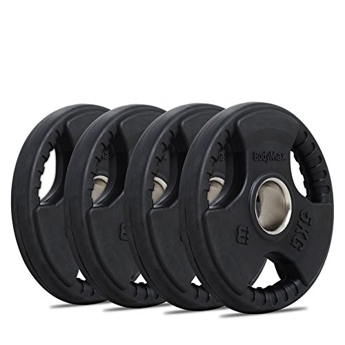 Bodymax Olympic Rubber Radial Weight Plates - 4 x 5kg