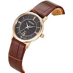 Ladies slim watch/Simple casual female form/Quartz water resistant watch-C
