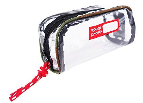 Rough Enough Eco senza PVC trasparente piccolo sacchetto make up Pouches case Camo Piping Camo Piping