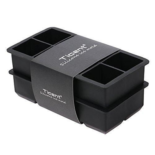 Best Silikon Ice Cube Tabletts 16 Quadratisch Weich Gro 51 Cm Wrfel Formen Set Von 2