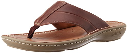 c01a46576 Clarks 91261150657 Men S Villa Beach Chestnut Leather Sandals And Floaters  7 Uk- Price in India