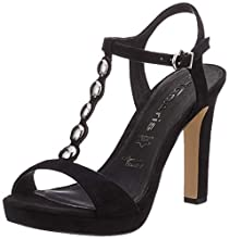 Tamaris 1-1-28378-22, Sandali con Cinturino alla Caviglia Donna, Nero (Black 1), 38 EU