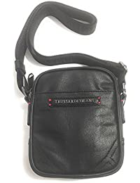 Trussardi Jeans BORSA UOMO REPORTER MAINE CROSS-BODY IN ECOPELLE NERO  BS17TJ01 912c928e6fd