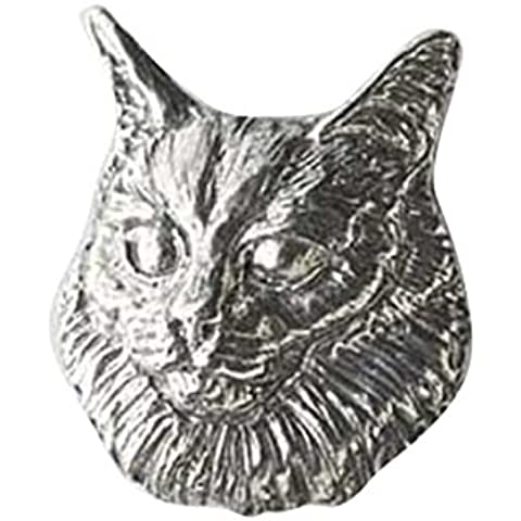 In peltro, motivo: gatto d'Angora, frigorifero, C004M