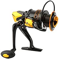 Fantasyworld 12+1BB 5.5:1 Metal Spinning Reel Fishing Reel Spinning Reel Casting Fishing Wheel Reel Lure Tackle Line