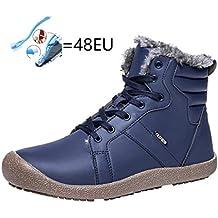 QUICKLYLY Botas para Hombre Calzado De Protección Zapatos Botines Impermeables De Algodón Deportivos De Matorral Cortas