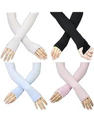 MAIBU 4 Paar im Freien UV-Schutz-Arm-Hülsen Kühlhandabdeckung