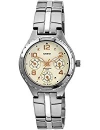 Casio Enticer Analog White Dial Women's Watch - LTP-2064A-7A3VDF (A949)