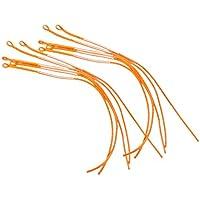 Sharplace Trenzada Pesca con Mosca Líder de Línea de Capacidad Conector Anillo 30 LB - Naranja