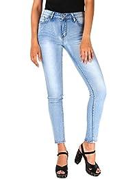 KRISP® Femmes Jeans Skinny Taille Haute Casual