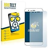BROTECT AirGlass Protector Pantalla Cristal Flexible Transparente para Ulefone Paris Protector Cristal Vidrio - Extra-Duro, Ultra-Ligero, Ultra-Claro