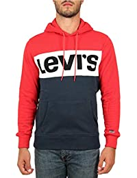 Sweat Levis 56613 Colorblock Rouge