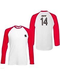 Johan Cruyff 14 Hommes T-Shirt Légende Contraste Hollande