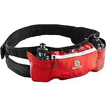 Salomon Cintura da corsa con piccoli flask, Unisex, 2 piccoli flask inclusi (200 ml), ENERGY BELT, Rosso, L38253900