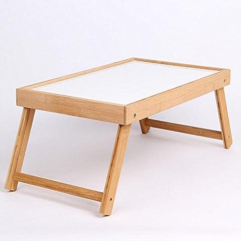 uzi-lazy persone benessere Elegante, minimalista scrivania per PC portatile, Dormitorio Letto bambù Tavolo pieghevole