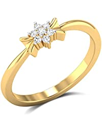 Zaamor Diamonds 18k (750) Yellow Gold And Diamond Twilight Blush Ring