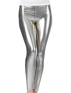 Für Mädchen Leggings, Metallisch Glänzend, Ganze Beinlänge, Elastischer