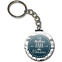 Le meilleur c'est PAPA Porte clés chaînette 38mm ( Idée Cadeau Papa Baptême Communion Noël Anniversaire )