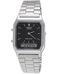 Casio Collection - Unisex-Armbanduhr mit Analog/Digital-Display und Edelstahlarmband - AQ-230A-1DMQYES