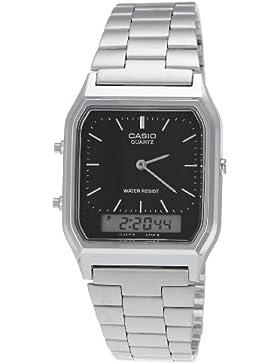 Casio Collection - Unisex-Armbanduhr mit Analog/Digital-Display und Edelstahlarmband - AQ-230A-1DMQYES