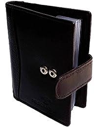 NUKAICHAU Brown Single Fold Men's Leather Card Holder