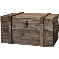 Estilo antiguo baúl–baúl de madera de almacenaje 70x 40x 34cm