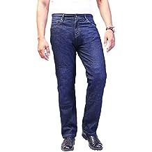 los pantalones vaqueros de la motocicleta. Pantalones para hombre de la moto. Aramida forrado. Protectores libres.