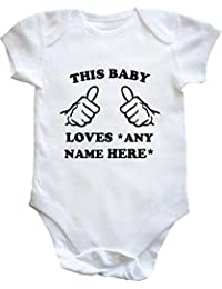 5428c049d Hippowarehouse This Baby (Personalised Name) Baby Vest Boys Girls