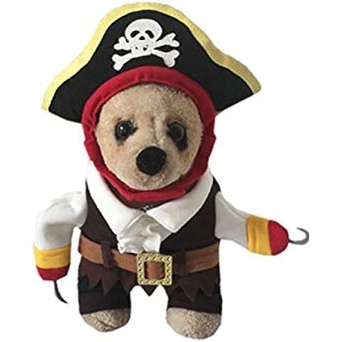TANG imp Natale Cucciolo Cane Pirata Cotone Hoodies Cappotto Cane Domestico One-Piece Vestiti XL