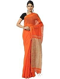 The Weave Traveller Handloom Women'S Silk & Noil Saree With Ghicha Work