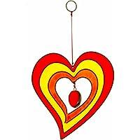 Colorati a forma di cuore da appendere Suncatcher artigianale casa e giardino ornamento - Ornamento Suncatcher