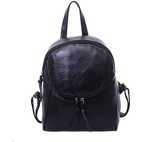 Clode® Bolso de las mujeres chicas señoras mochila moda bandolera mochila PU cuero viajes