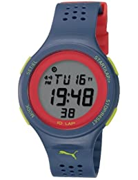 Puma Faas 200 Unisex Digital Watch with LCD Dial Digital Display and Purple Plastic or PU Strap PU910931007