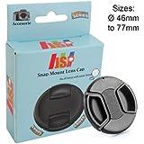 JSP rabat Cache objectif 58 mm pour appareils Canon, Nikon, Sony, Panasonic, Fuji, Pentax Tamron Sigma objectif
