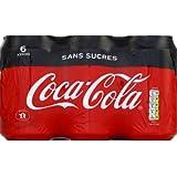 Coca Cola Boisson gazeuse aux extraits végétaux - Les 6 canettes de 33cl