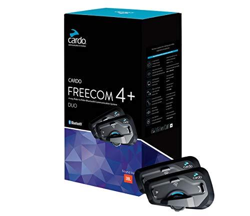 Cardo FREECOM 4 Plus – 4-Wege-Bluetooth-Kommunikationssystem mit natürlicher Sprachbedienung, Sound von JBL (Doppelpack) - 4