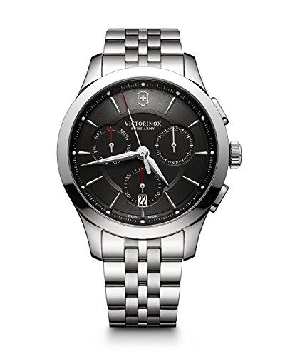 Victorinox 241745 Alliance Reloj para hombre de acero inoxidable y movimiento de cuarzo suizo, estilo casual