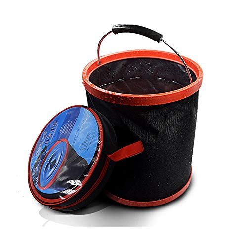 Modenny Gran Capacidad portátil para Acampar al Aire Libre Pesca Plegable Cubo de Agua Contenedor de Almacenamiento de Coche Herramientas de Pesca portátiles