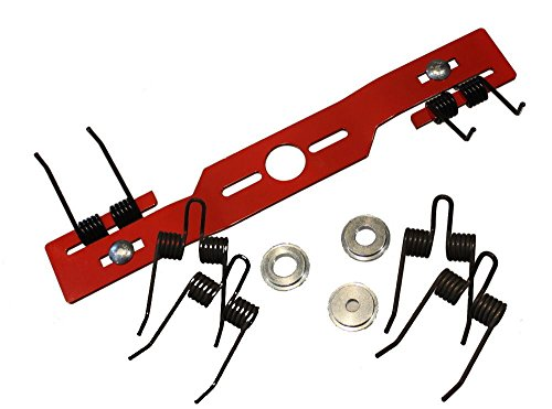 Kraftharke Quattro 44 cm für Rasenmäher Entmooser Rasenlüfter Blade Vertikutierer Umbausatz + 2 x Ersatz Federn