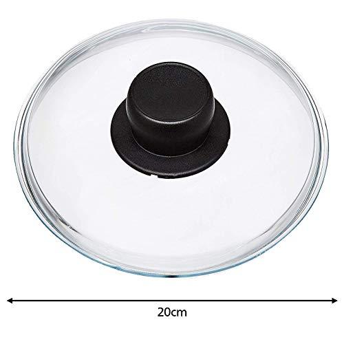 Spares2go Universal-Glasdeckel für Woks, Langzeitkocher und Kasserolen, 20 cm