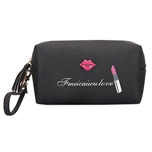Sac de rangement pour maquillage portable Sac à cosmétiques étanche Sac de beauté K