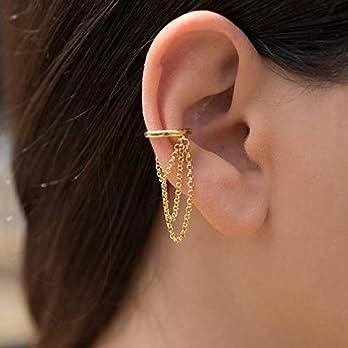Ohrstulpe ohrring ohrstulpe kein piercing, ohrwickel gold ear cuff huggy hoops ohrring earcuff kein piercing ohrstulpe kein durchbohrtes muttertagsgeschenk