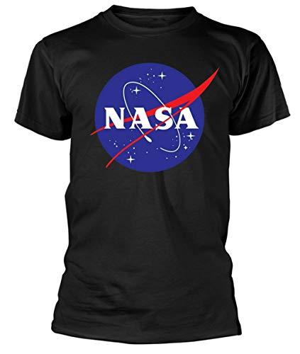 NASA - Logo - T-Shirt Officiel Homme - Noir, Large